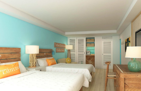 Rendering of room at the upcoming Margaritaville Grand Cayman